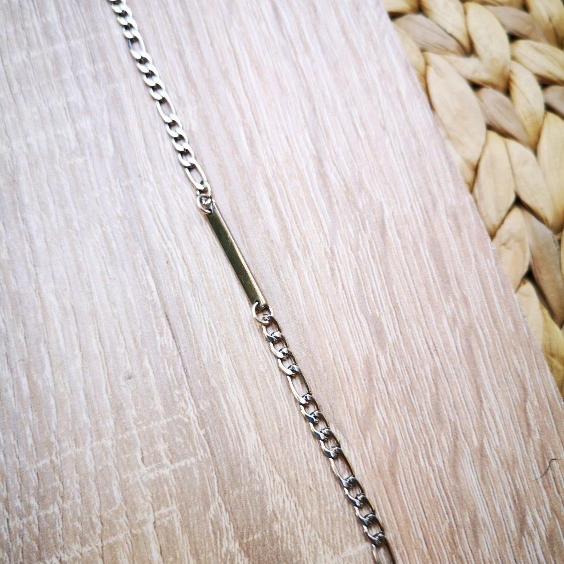 silver tag bracelet