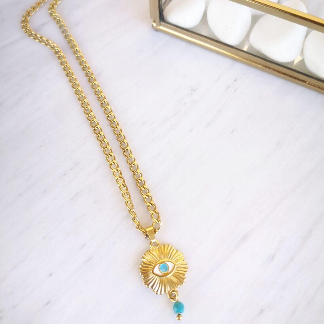 ocean eye necklace