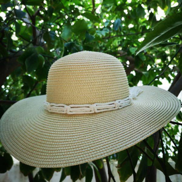 macrame hat