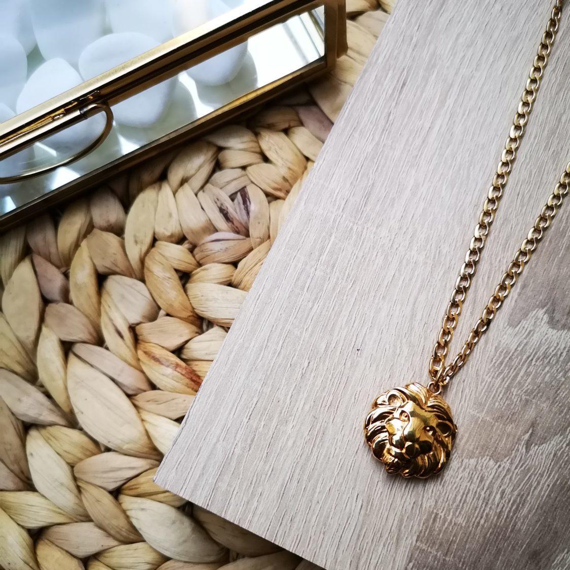 golden lion necklace