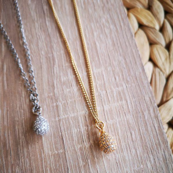 Zircon Drop Necklace