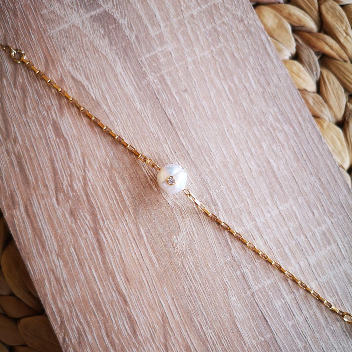 strass pearl bracelet