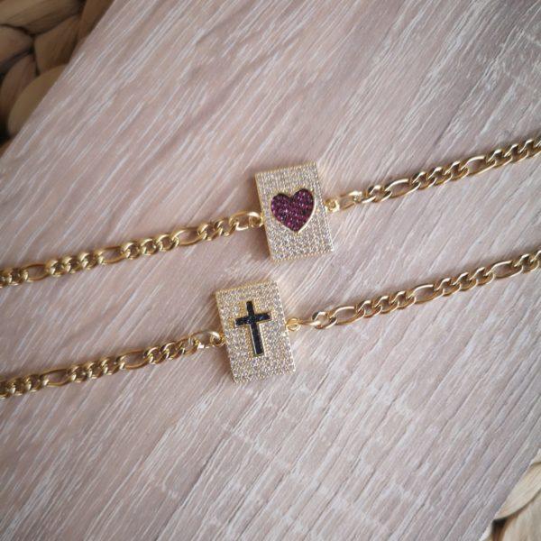 zircon label bracelet