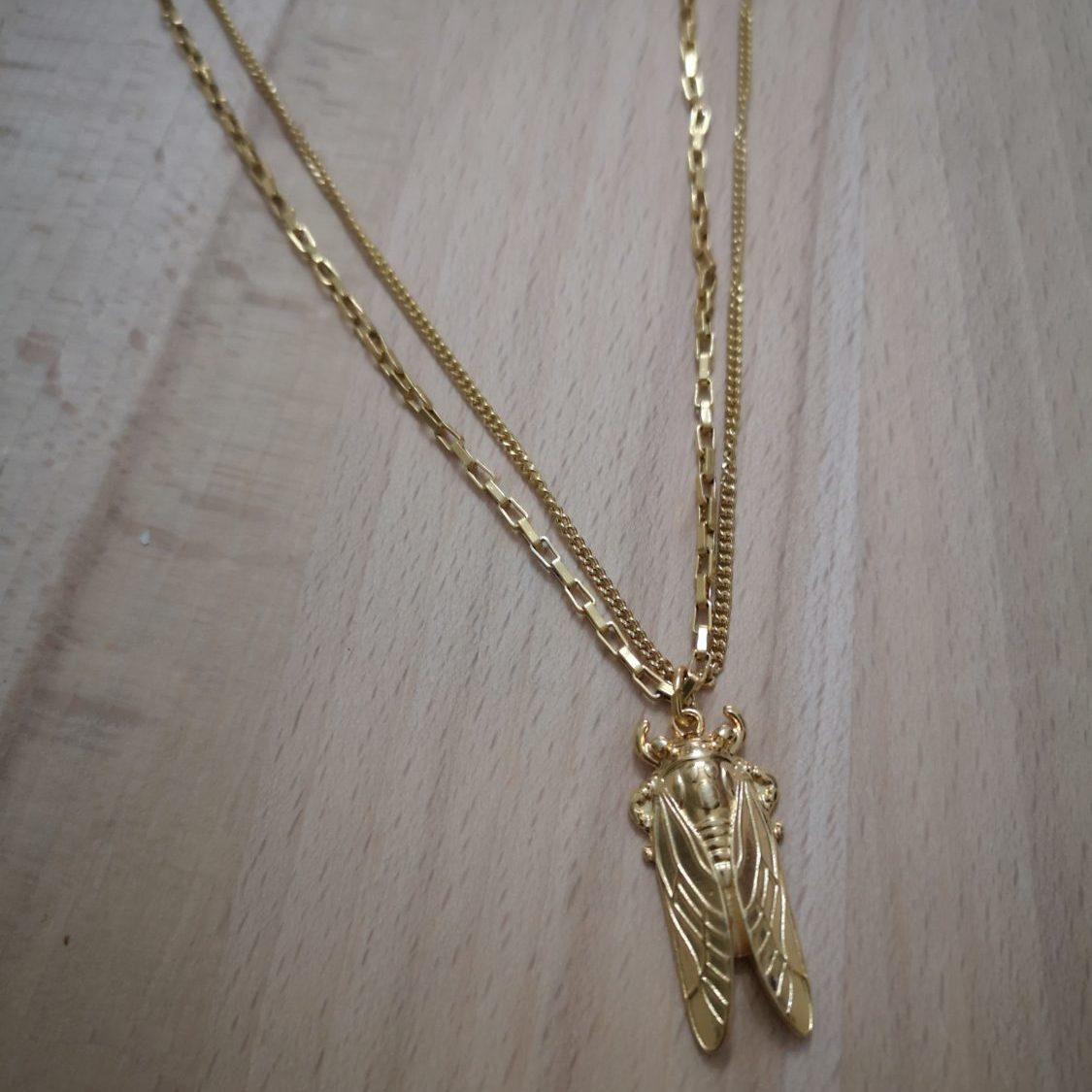 Cicada Necklace-κολιέ με τζιτζίκι