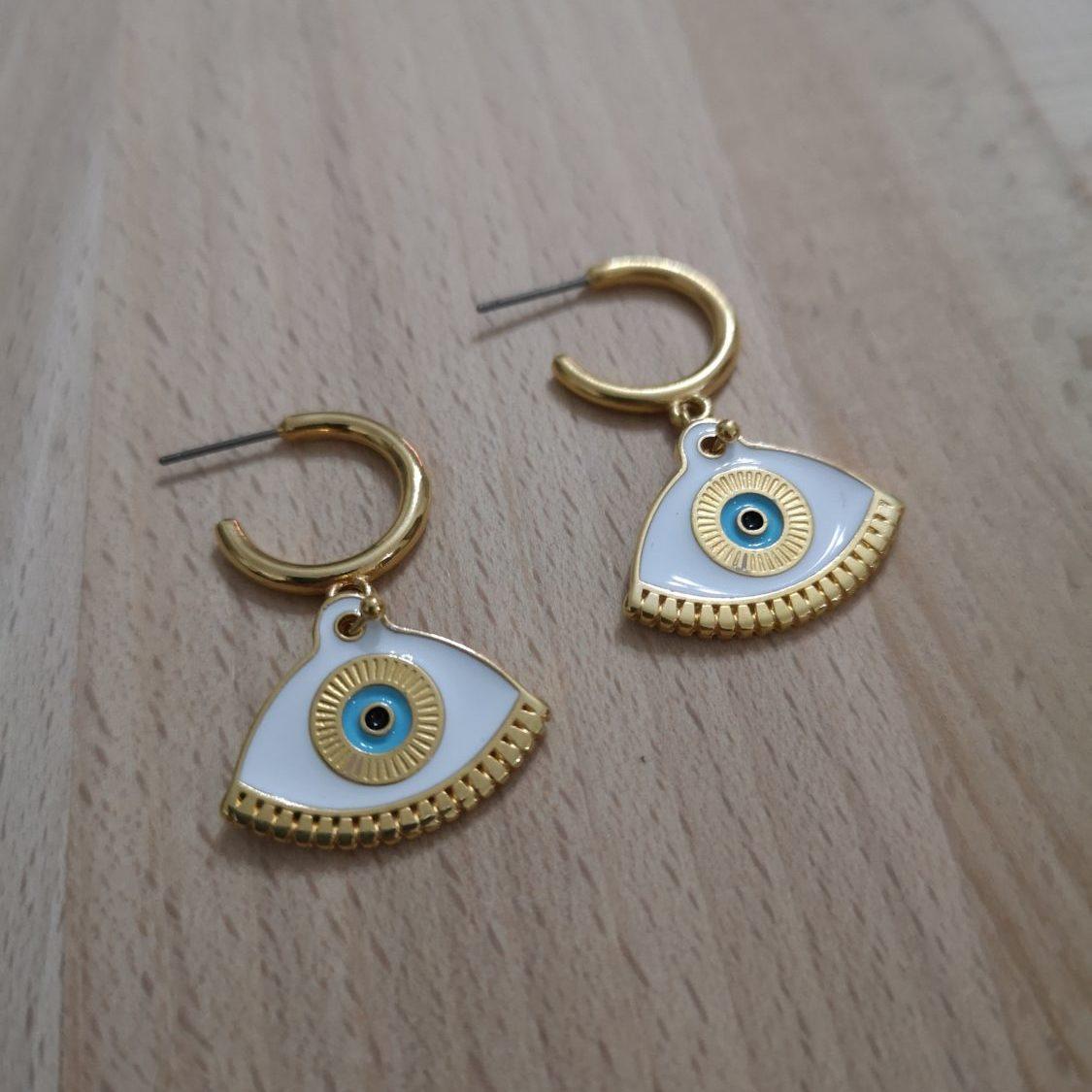 Oval Eye Earrings