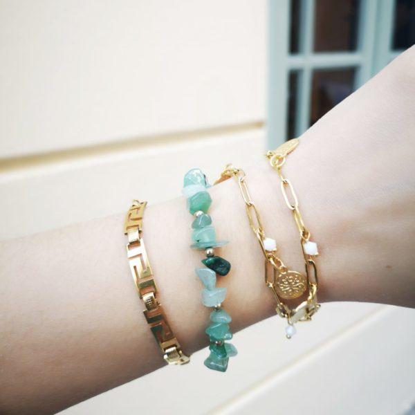 Arabic coin bracelet