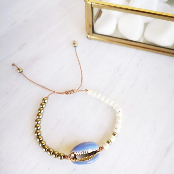 lila shell bracelet