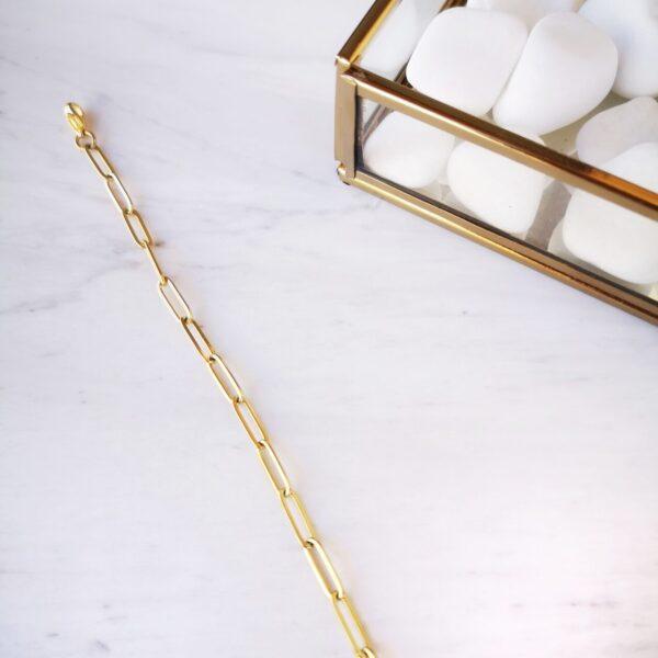 Βραχιόλι ποδιού με οβάλ αλυσίδα