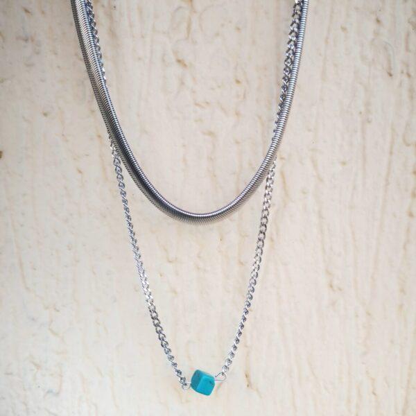 aelia necklace silver