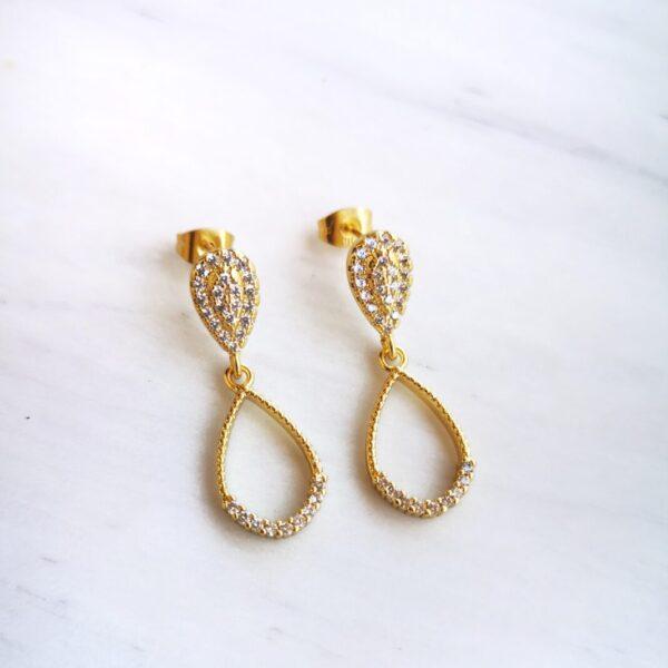 Zircon Drop Earrings