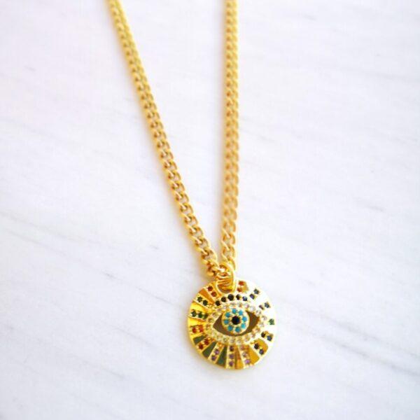 Zircon Eye Necklace