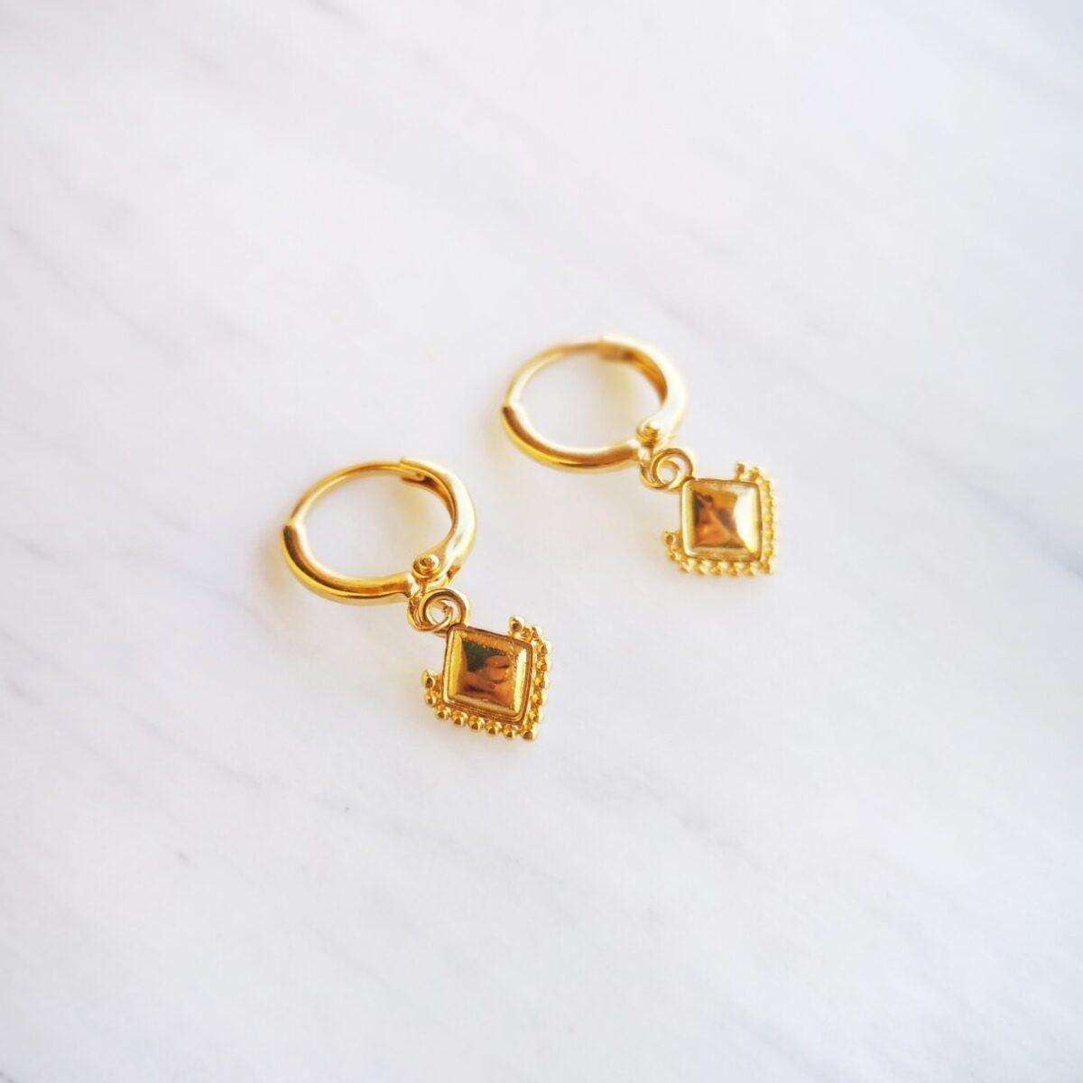 Σκουλαρίκια με μικρούς ρόμβους