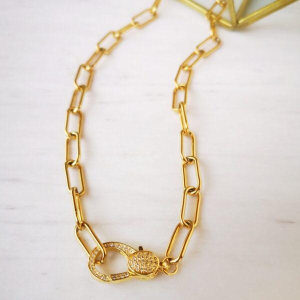 zircon hooks necklace